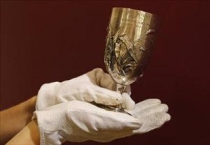 The Bral&#039;s Silver Cup won by Spyros Louis in 1896.