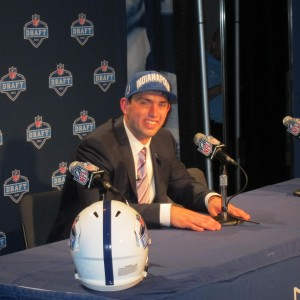 The Indianapolis Colts chose Andrew Luck No. 1 in the 2012 NFL Draft.