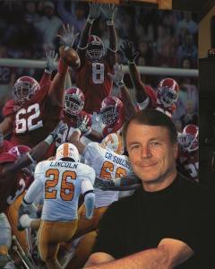 Daniel Moore is the United States Sports Academy's 2005 Sport Artist of the Year and annually paints the school's College Football Game of the Year selection..