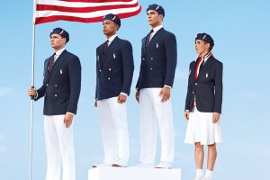 U.S. Olympic team uniforms.