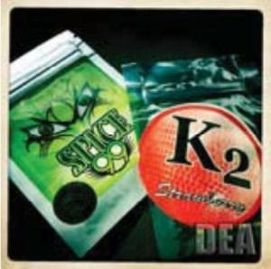 Synthetic marijuana commonly known as Spice or K2.