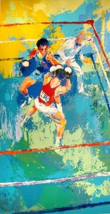 """Olympic Boxing,"" by Leroy Neiman, the Academy's 2007 Sport Artist of the Year."