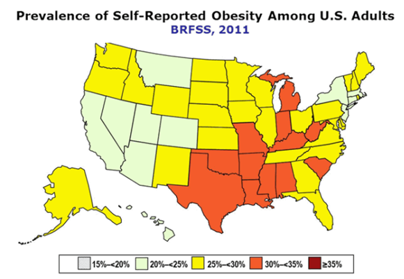 America — Land of the Free and Home of the Obese