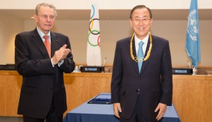UN Secretary-General Ban Ki-moon receives Olympic Order