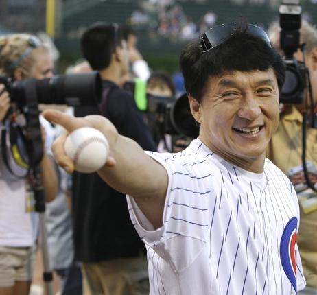 Jackie Chan Pitches Up in Support of Baseball-Softball Olympic Bid