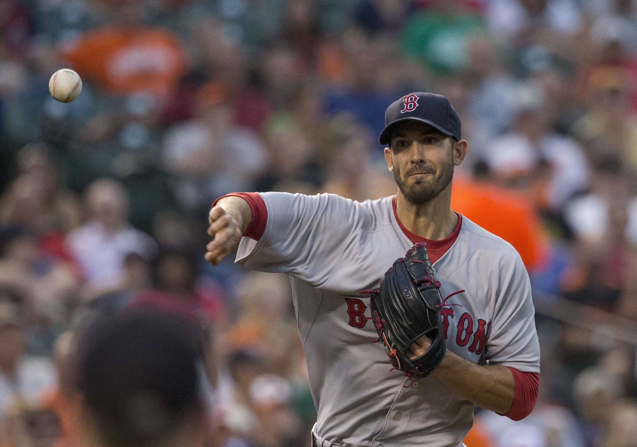 Boston Red Sox pitcher. Rick Porcello is 22-4 with a 3.11 ERA. Photo: Flickr/Keith Allison.