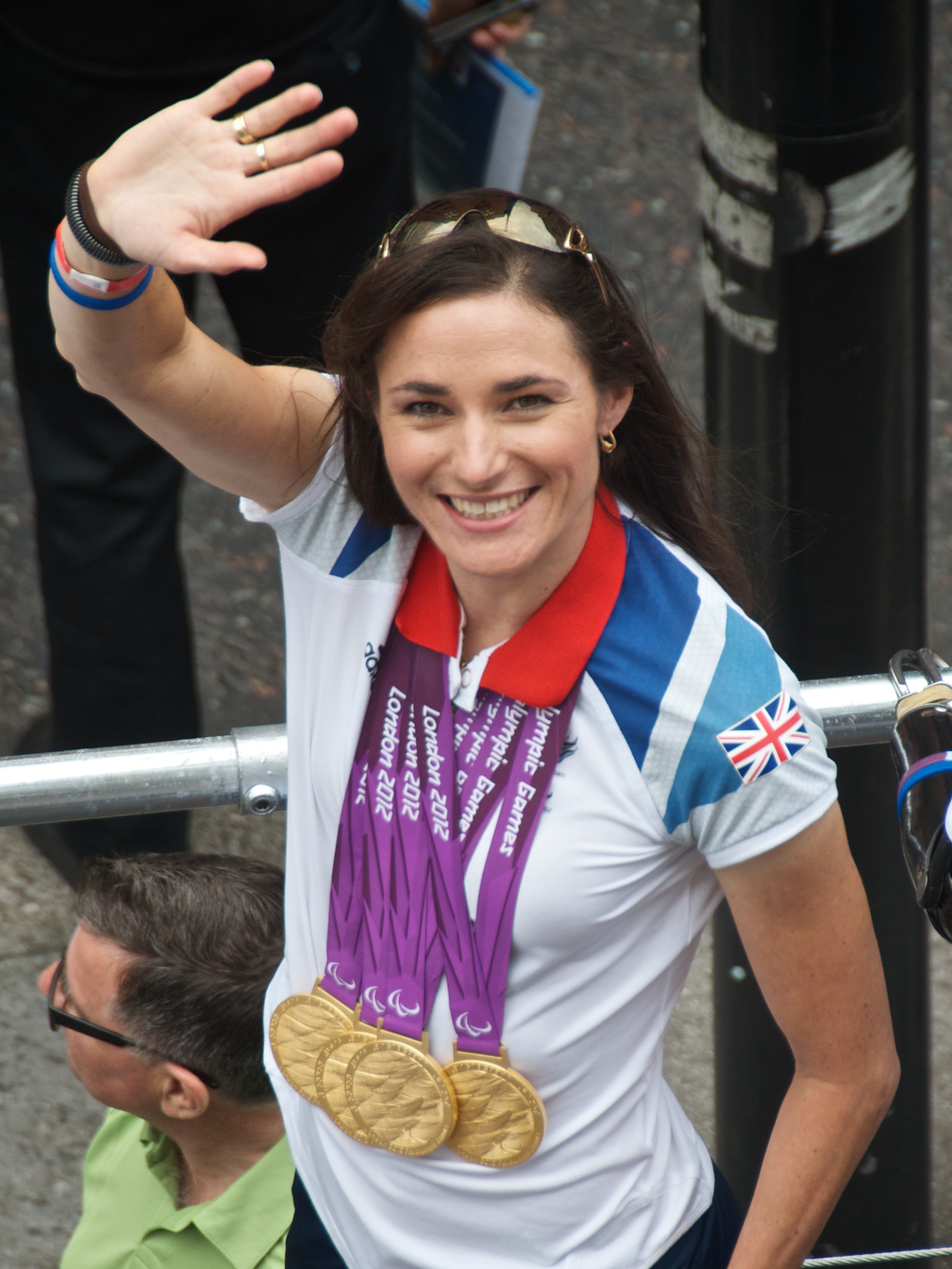 Dame Sarah Storey. Photo By Bill - Sarah StoreyUploaded by Kafuffle, CC BY 2.0, https://commons.wikimedia.org/w/index.php?curid=23390376