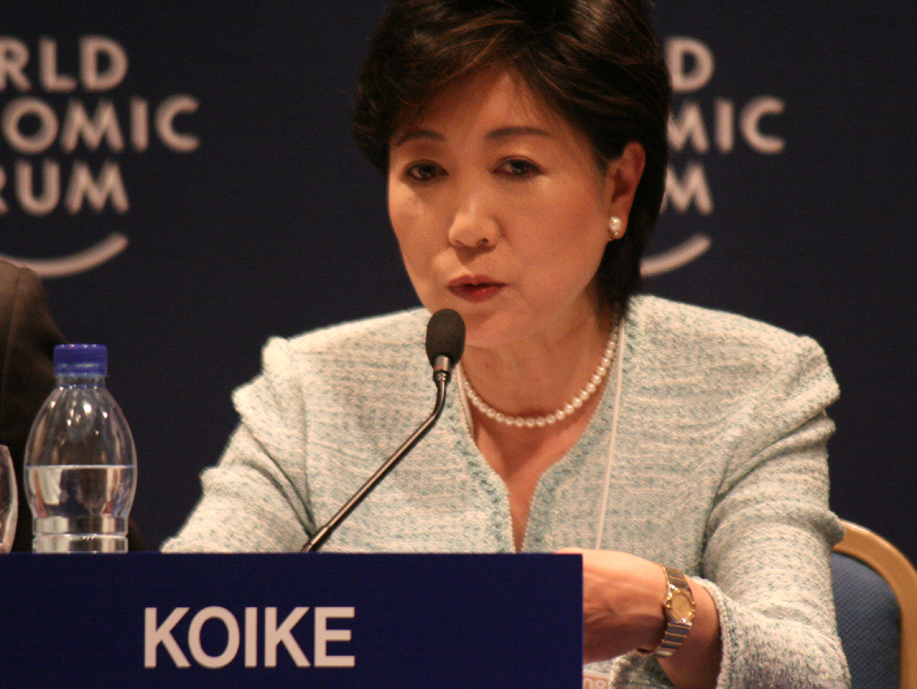 Tokyo Governor Yuriko Koike. By Copyright by World Economic Forum (www.weforum.org) - originally posted to Flickr as Yuriko Koike - World Economic Forum on the Middle East 2008, CC BY-SA 2.0, https://commons.wikimedia.org/w/index.php?curid=4482282