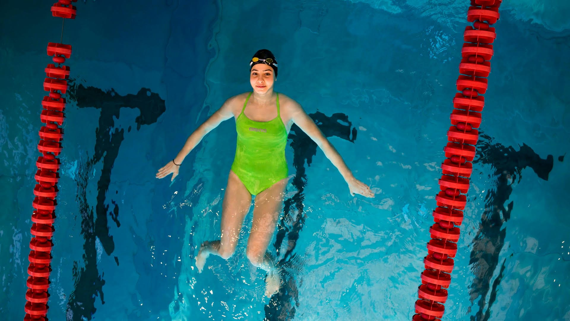 Yusra Mardini swam for the Refugee Olympic Team in the Rio 2016 Olympic Games. Photo By United Nations - https://www.youtube.com/watch?v=Z3WmCUnDRJ4, CC BY-SA 4.0, https://commons.wikimedia.org/w/index.php?curid=49977929