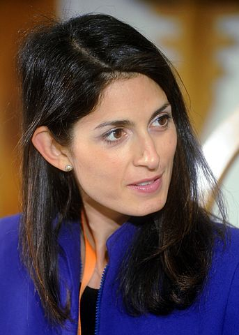 Rome Mayor Virginia Raggi. By Niccolò Caranti - via Wikimedia Commons