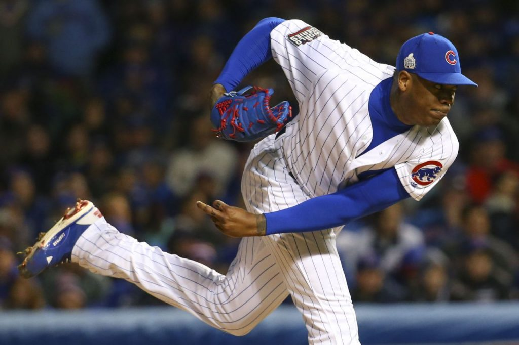 Chicago Cubs closer Aroldis Chapman. Photo: USA Today