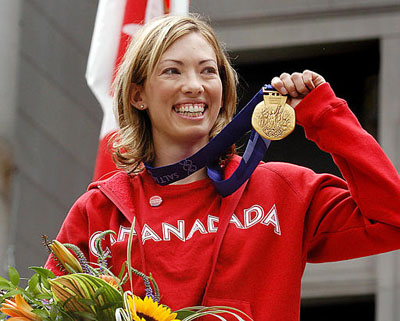 Beckie Scott won North America's first medal, a bronze, in cross-country skiing at Salt Lake 2002. She was upgraded to gold in 2003. Photo: courtesy Cross Country Canada.