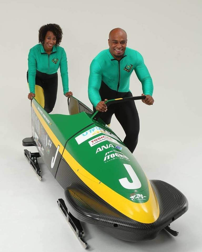 The sled Jamaica will use to qualify for Pyeongchang 2018 has been unveiled. Photo: Facebook/Shitamachi Bobsleigh project