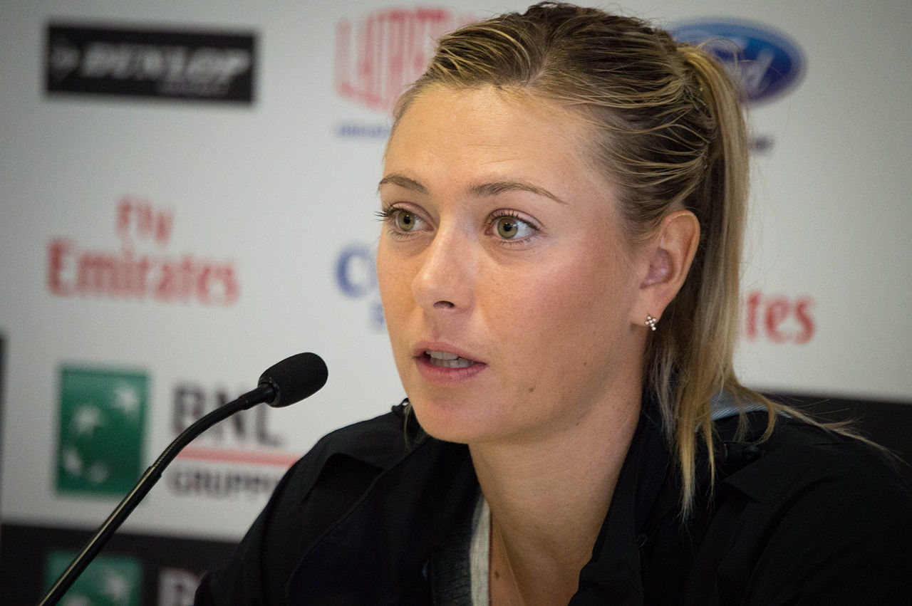 Maria Sharapova. By Valentina Alemanno (Flickr) [CC BY 2.0 (http://creativecommons.org/licenses/by/2.0)], via Wikimedia Commons