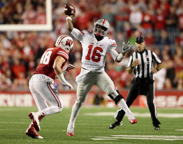 Ohio State quarterback J.T. Barrett. Photo: Marvin Fong, The Plain Dealer