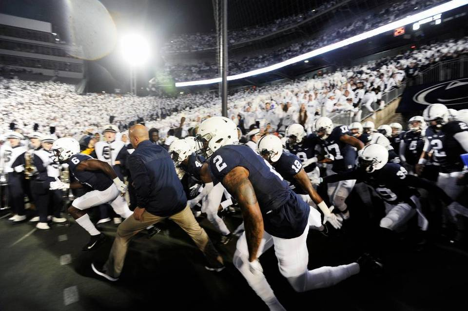 Penn State upset Ohio State 24-21 to earn College Football Game of the Week honors from the United States Sports Academy. Photo: Centre Times Daily