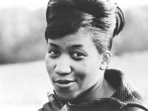 Aretha Franklin, seen here when the Queen of Soul was about 18 and signed to Columbia Records. (Photo: Frank Driggs Collection)