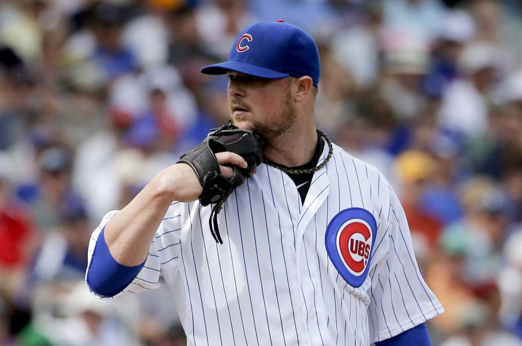 Chicago Cubs pitcher Jon Lester. Photo: Chicago Tribune