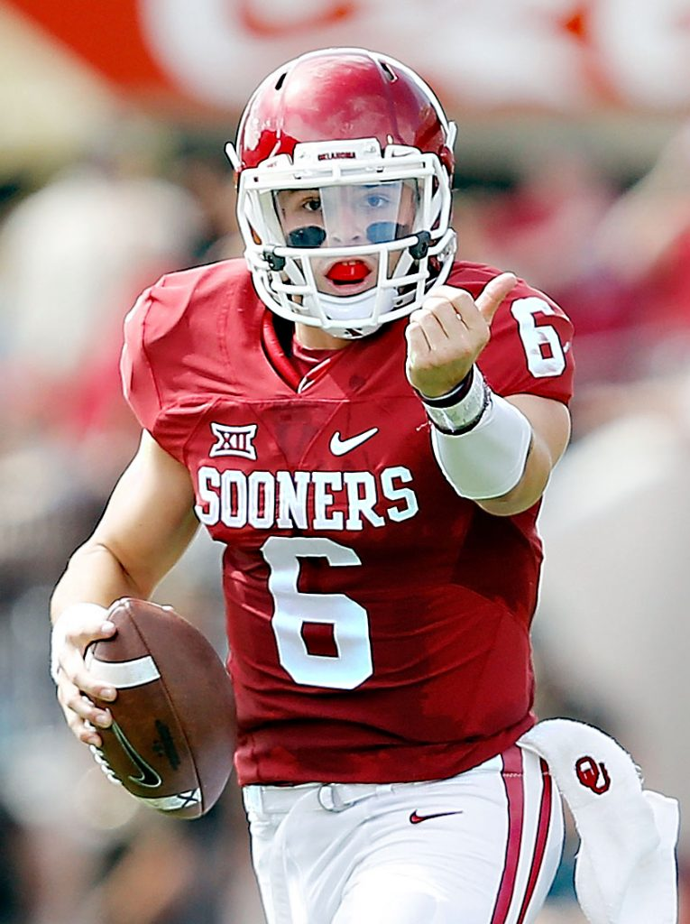 Oklahoma quarterback Baker Mayfield and the Sooners are ranked No. 9 in the College Football Playoff rankings. Photo: soonersports.com