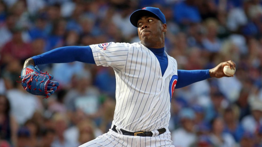 The New York Yankees signed former Chicago Cubs closer Aroldis Chapman. Photo: Brian Cassella / Chicago Tribune