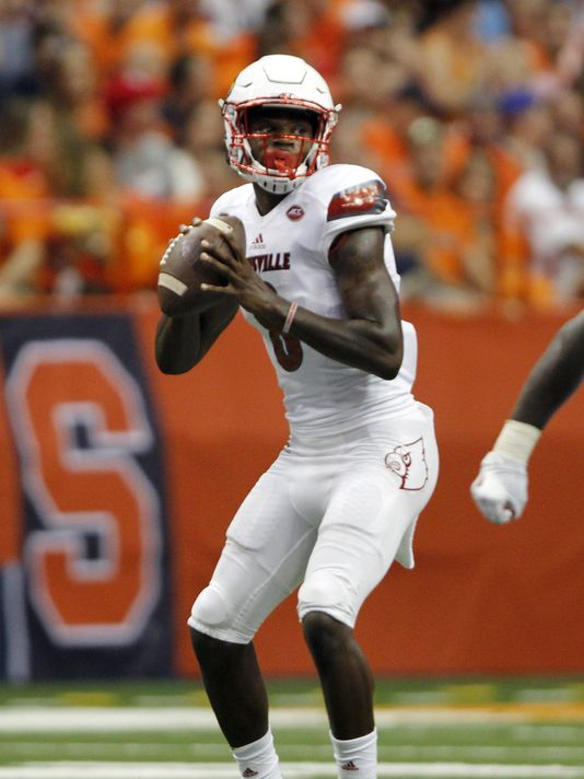 Louisville quarterback Lamar Jackson. Photo: Nick Lisi, AP