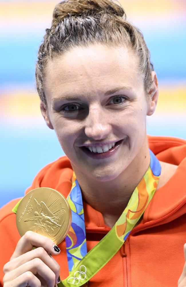 Hungarian swimmer Katinka Hosszu. Photo: Christophe Simon/AFP