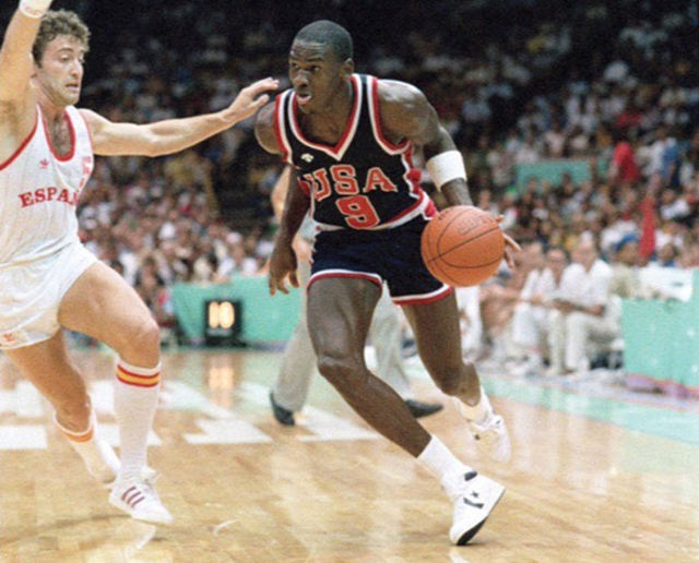 22e616076a273e A pair of shoes worn by Michael Jordan in the 1984 Olympics has sold for  more than  190