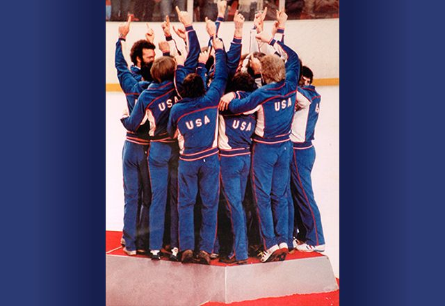 Believe in Miracles: US Hockey Team Victory by Roger Riger